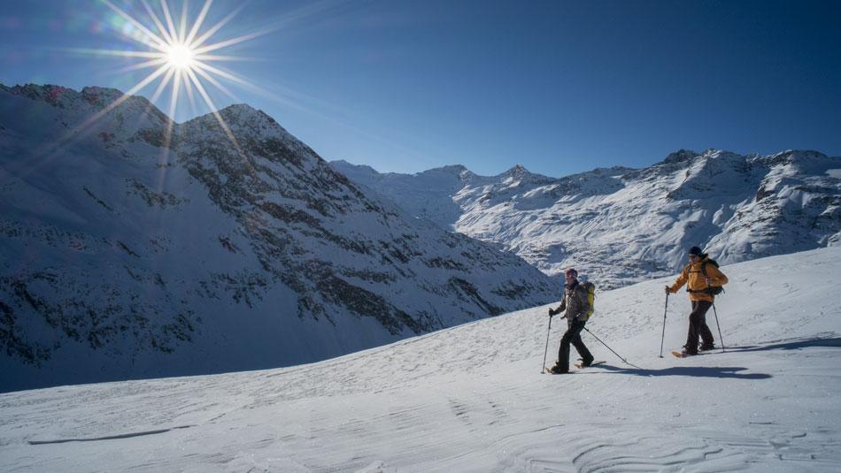 Schneeschuwandern in Gurgl